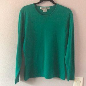 Blue/green Carlisle/Sport cashmere/silk sweater